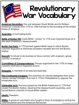 The American Revolution: Causes of the War