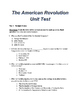 The American Revolution - Editable Test with Study Guide,