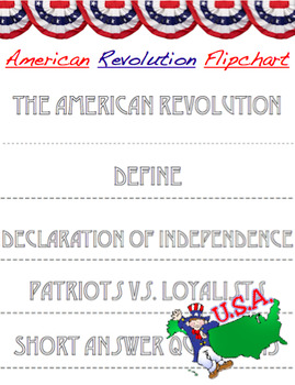 The American Revolution Flip Chart