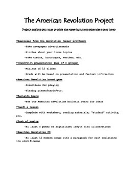 The American Revolution Group Project