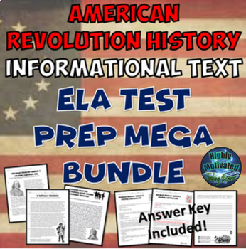 The American Revolution History Informational Text Test Prep Bundle