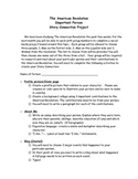 The American Revolution Important Person Project