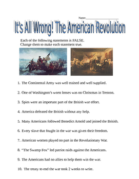 The American Revolution - It's All Wrong!