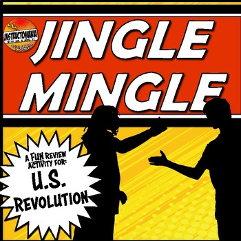 The American Revolution Jingle Mingle Fun, Review Activity