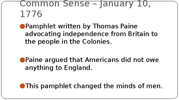 The American Revolution (PPT)
