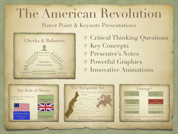 The American Revolution PowerPoint and Keynote Presentations