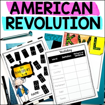 The American Revolution - Printable Black and White Booklet