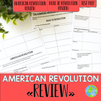 American Revolution Review Packet