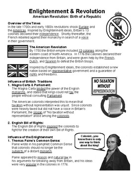 W22.4 - The American Revolution - Guided Notes (Filled-In Only)