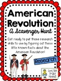 The American Revolution - Scavenger Hunt Activity and KEY