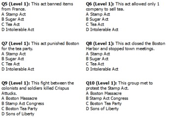 The American Revolution Self-Paced ActivExpression Quiz