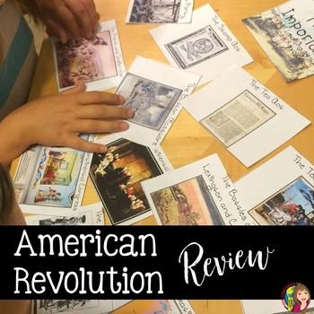 American Revolution Sequencing Activity