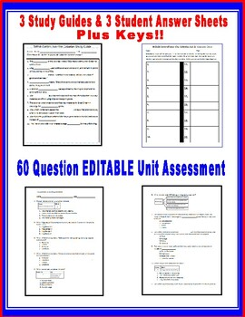 The American Revolution Task Cards, Close Notes Study Guide, and Unit Assessment