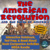 The American Revolution Interactive Notebook Unit with Test Prep Passage +