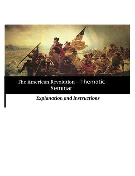 Socratic Seminar - The American Revolution - Common Core Aligned