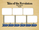 The American Revolution - 3 Timeline Graphic Organizers