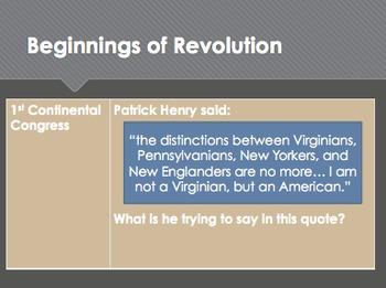 The American Revolution Unit