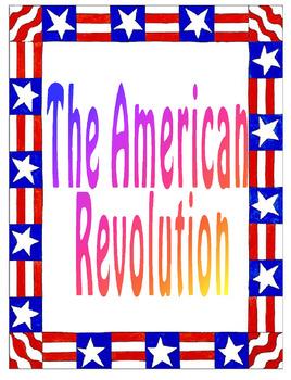 The American Revolution Unit Plan Bundle