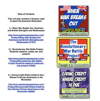 American Revolution Unit Bundle! 3 fun resources to teach the Revolution!