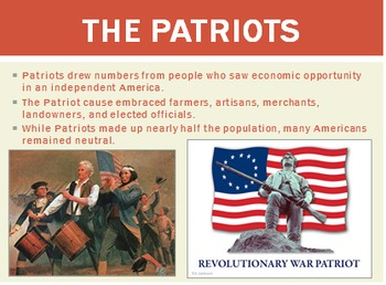 The American Revolution (Unit PowerPoint)