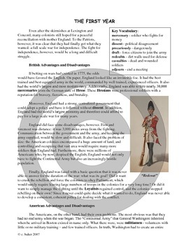 The American Revolution unit bundle, including text
