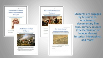 The American Revolution Webquest Bundle