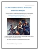 The American Revolution- Webquest and Video Analysis with Key