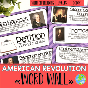 American Revolution Word Wall