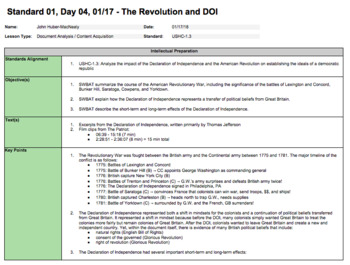 The American Revolution and Declaration of Independence (LP + Docs + PPT)