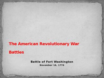 American Revolutionary War - Battle of Fort Washington - 1776