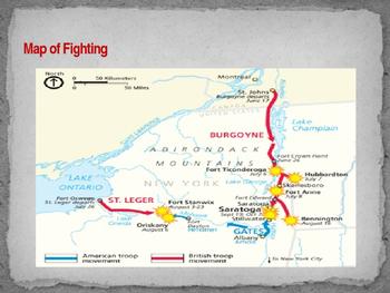 American Revolutionary War - Second Battle of Ticonderoga - 1777
