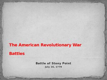 American Revolutionary War - Battle of Stoney Point - 1779