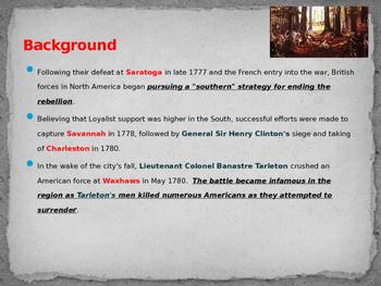 American Revolutionary War - Battle of Kings Mountain - 1780