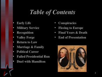 American Revolutionary War - Key Figures - Aaron Burr