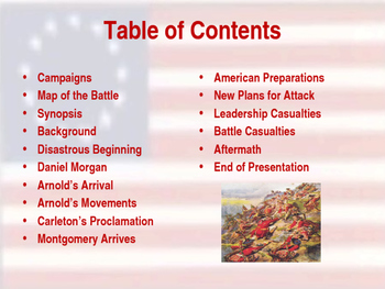 American Revolutionary War - Quebec Campaign - 1775 & 1776