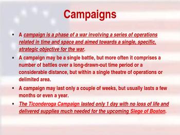 American Revolutionary War - Ticonderoga Campaign - 1775
