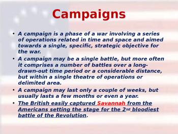 American Revolutionary War - Savannah Campaign - 1778