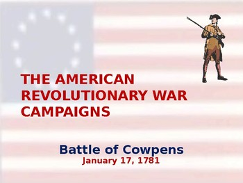 American Revolutionary War - Battle of Cowpens - 1781