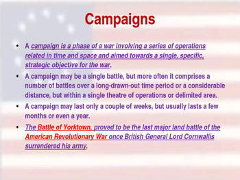 American Revolutionary War - The Battle of Yorktown - 1781
