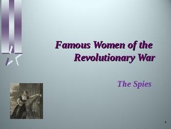American Revolutionary War - Key Figures - Famous Women of the War