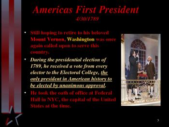 American Revolutionary War - George Washington - Presidential Years