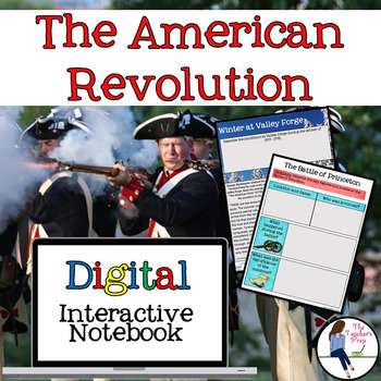 The American Revolutionary War Interactive Notebook for Google Drive