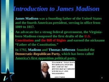 American Revolutionary War - Key Figures - James Madison