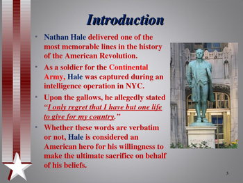 American Revolutionary War - Key Figures - Nathan Hale