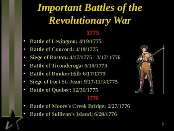 American Revolutionary War - The Important Battles of the War