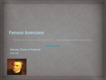 American Revolutionary War - Key Figures - Patrick Henry