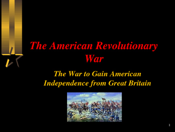 American Revolutionary War - The French & Indian War