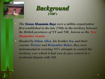 American Revolutionary War - Key Figures - The Green Mountain Boys