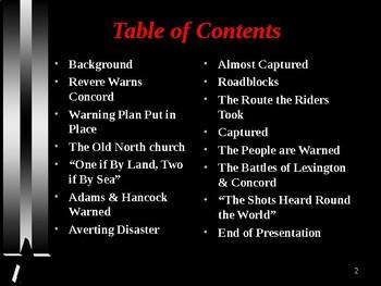 American Revolutionary War - The Midnight Ride of Paul Revere