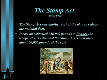 American Revolutionary War - The Stamp Act